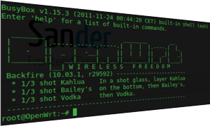 OpenWrt: SSH via a terminal